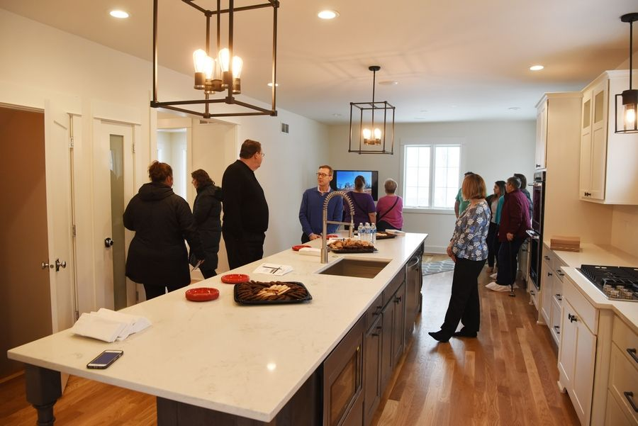 A home designed and built by Palatine-Schaumburg High School District 211 students includes a chef-style kitchen and oak flooring.