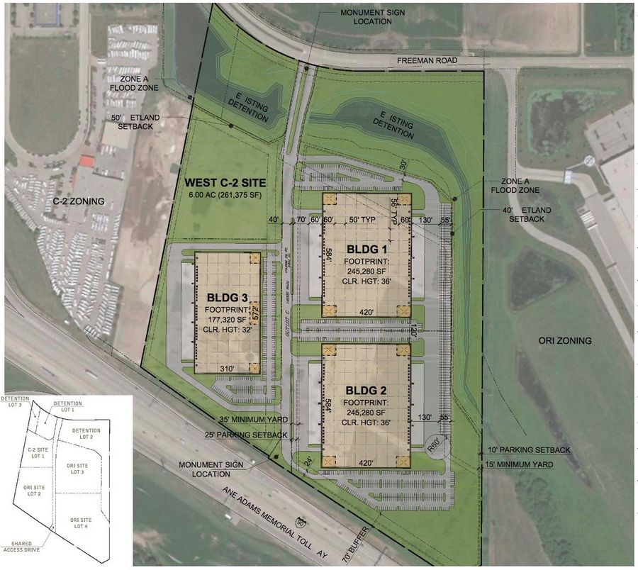 An Elgin developer's plans to rezone and redevelop roughly 60 acres of the former Huntley Outlet Center property for office, research and light industrial manufacturing uses and get a special use to allow warehouse distribution were quashed last week.