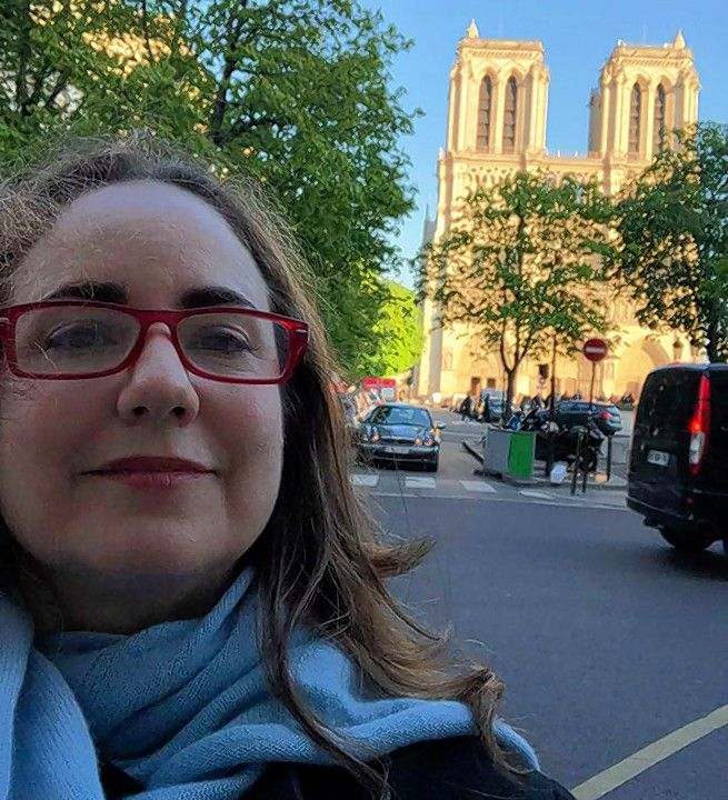 Sophia Forero of Naperville had visited the Notre Dame cathedral just one day before it caught fire.