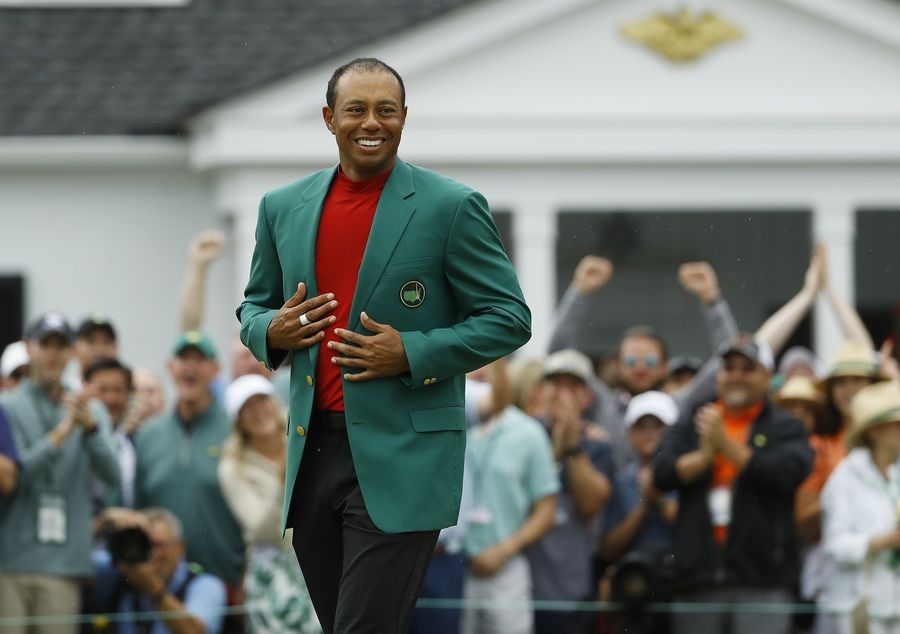 The Green Jacket is a good fit for Tiger Woods, who earned his fifth Sunday at Augusta National.