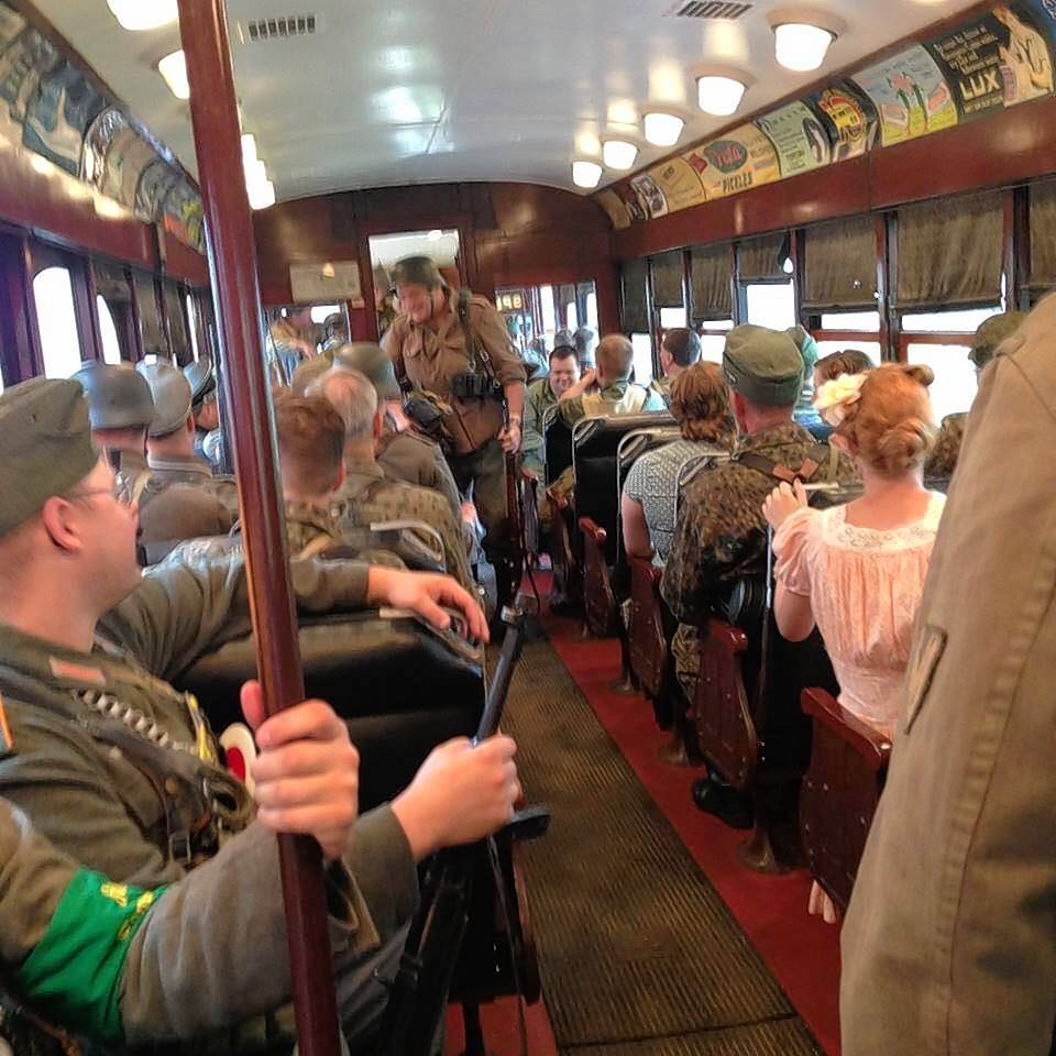"Remember the sacrifice made by the Allies 75 years ago by taking a ride into occupied Holland on the ""Dolle Dinsdag Express"" during Fox River Trolley Museum's ""The Rails to Victory"" World War II living history re-enactment on Saturday and Sunday, April 27-28."