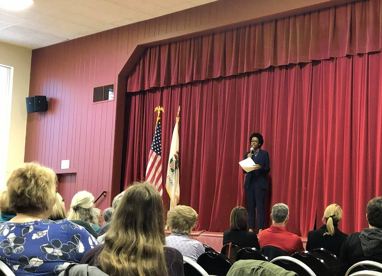 Congresswoman Lauren Underwood told constituents in Warrenville Monday night she is well aware they elected her to be productive. She's putting her nursing background to use in working on lowering prescription drug prices.