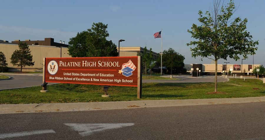 A Palatine High School freshman was taken into police custody Tuesday after school staff members found a gun hidden in his belongings, school officials said.