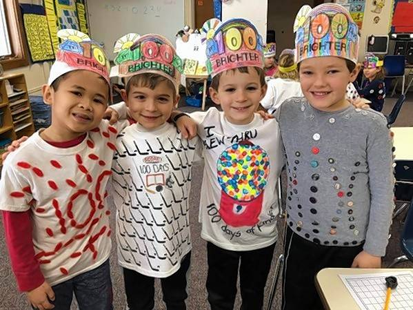 Kindergartners Gabriel Diaz, Nolan Gunderson, A.J. Carstens, and Mitchell Lindborg attend Immanuel Lutheran School in Batavia. The school will host a Kindergarten Preview on Sunday, May 19.