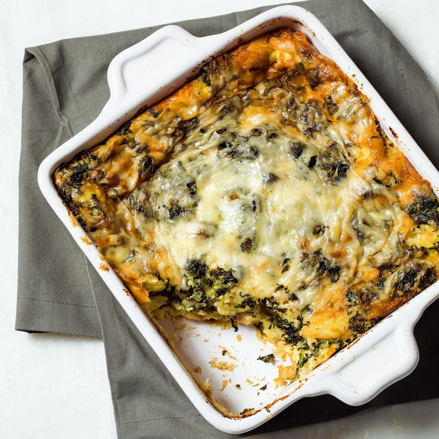 "The recipe for this Breakfast Strata appears in the America's Test Kitchen cookbook ""Vegetables Illustrated."""