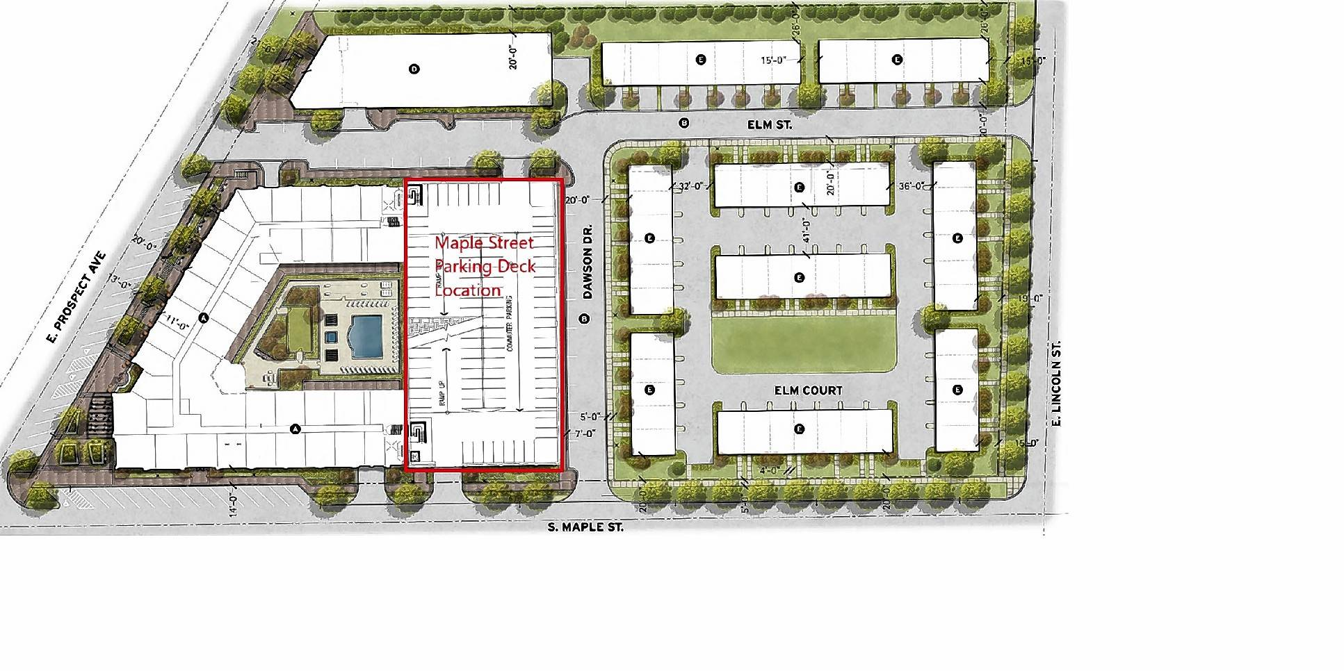 Mount Prospect village trustees this week hired a Hoffman Estates firm to design a new, 268-space parking deck southeast of the village's Metra station.