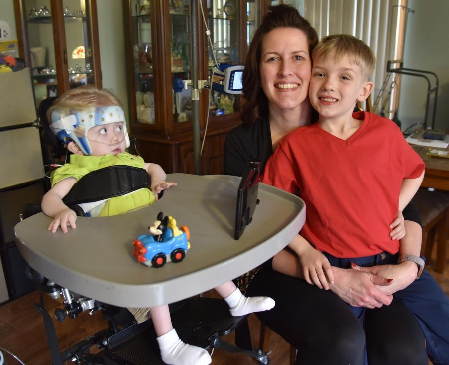 Jennifer Daly and her sons Jonathan, 3, and Christopher, 6, were asked to leave a Lake in the Hills movie theater after patrons complained Jonathan, who has serious medical issues, was making too much noise.