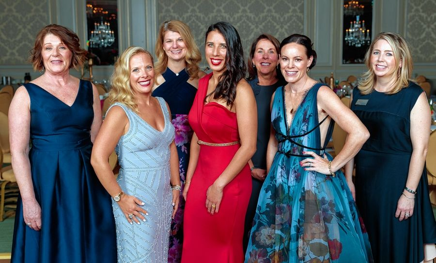 Easterseals DuPage & Fox Valley's 41st annual benefit gala committee members include: Mary Morrow (Carol Stream), Jennifer Huard (Glen Ellyn), Lisa McDougal (Glen Ellyn), Penelope Prior (Willow Springs), Cairy Brown (Glen Ellyn), Sarah Ladgenski (Glen Ellyn), and Kristen Barnfield (Western Springs).