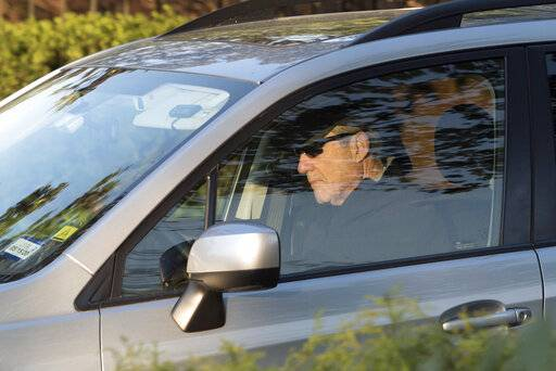Special counsel Robert Mueller drives away from his Washington home on Wednesday, April 17, 2019. Outstanding questions about the special counsel's Russia investigation have not stopped President Donald Trump and his allies from declaring victory.