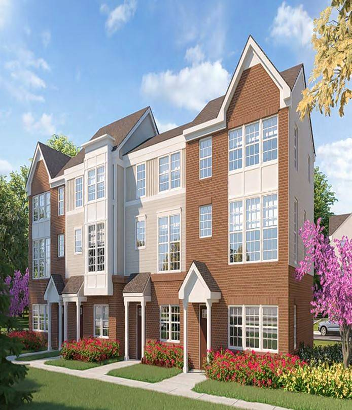 The rendering of some of the units at Canterbury Estates, a 40-unit townhouse development approved by the village board this week.