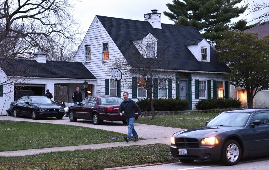"Police investigating Thursday evening at the house of missing 5-year-old boy Andrew ""AJ"" Freund on the 0-100 block of Dole Avenue in Crystal Lake."