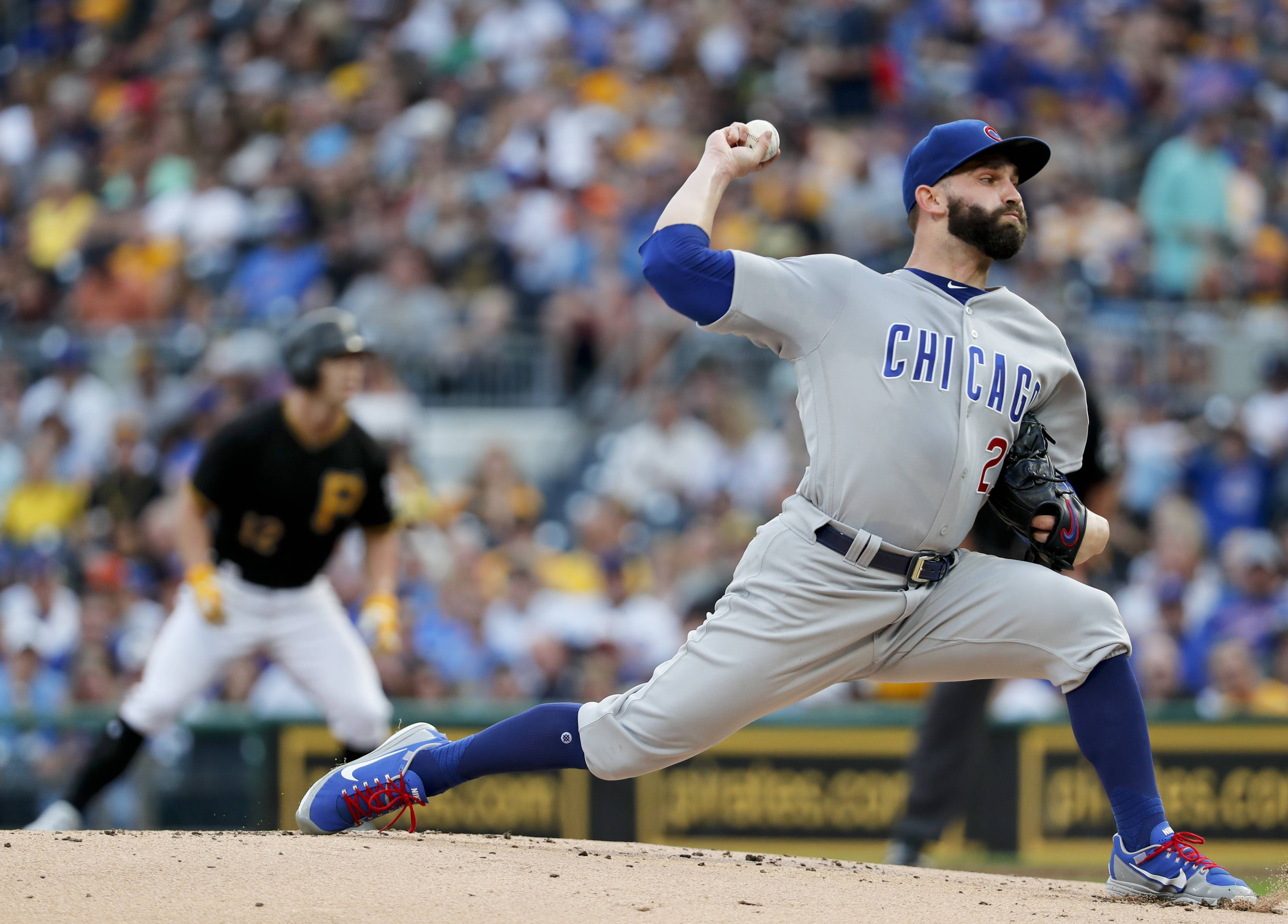 The Chicago Cubs have tweaked their starting rotation. Right-hander Tyler Chatwood, above, will start Sunday against the Arizona Diamondbacks, pushing lefty Jose Quintana to Tuesday against the Los Angeles Dodgers.