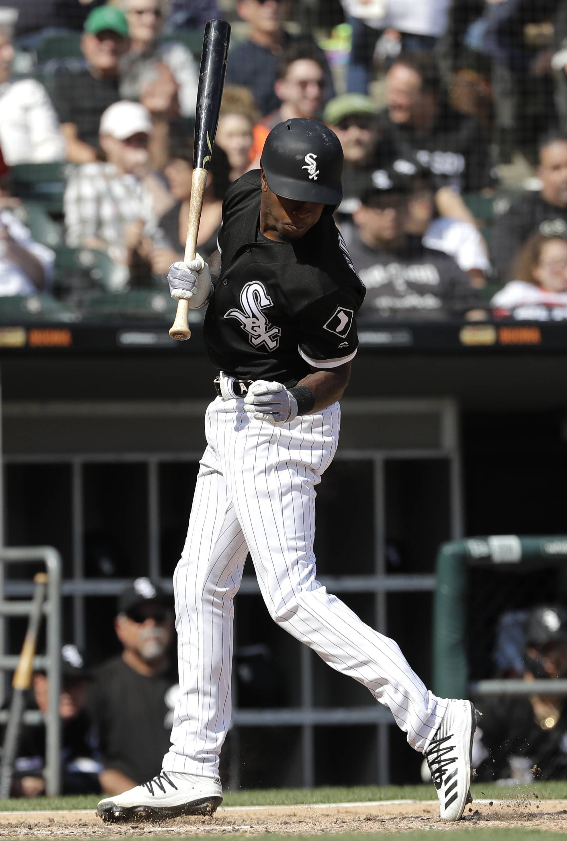 The Sox's Tim Anderson is hit by a pitch from Kansas City's Brad Keller during Wednesday's game, leading to the benches emptying. Major League Baseball announced Friday Anderson, Sox manager Rick Renteria and Keller were suspended and fined.