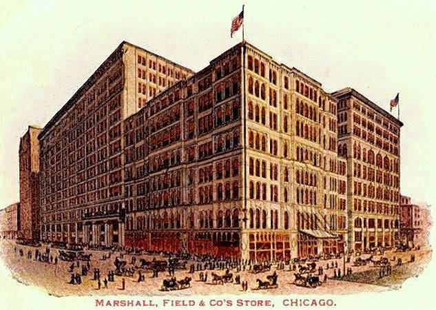 At one time Marshall Field's flagship store on State Street in Chicago was the largest in the world, consisting of 73 acres of floor space with an unrivaled number of departments and incomparable customer service.