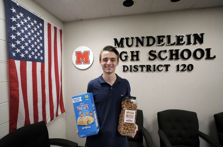 Mundelein High School student Matthew Pawlowski, 17, has collected sought-after items for U.S. military personnel stationed overseas.