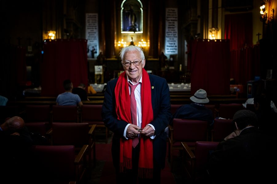 "Capturing Father Angel Garcia Rodriguez in his church in Spain is just one of the portraits taken by photographer Paul Audia of Wood Dale for Pope Francis' book urging older people to share wisdom. ""The poorer and the most powerful in this world, the youngest and the oldest, we all need to be loved,"" the priest said."