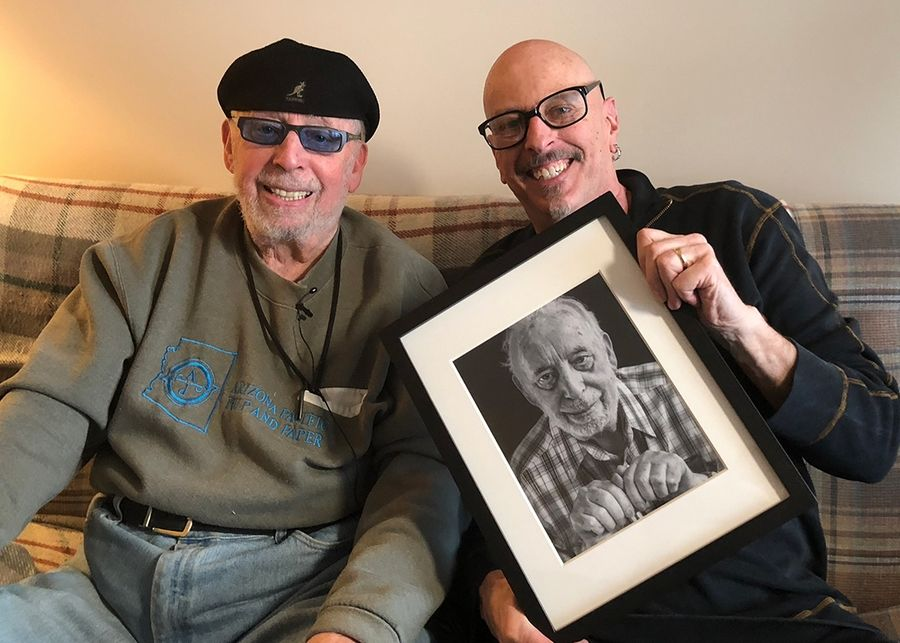 "Photographing Holocaust survivor Erwin Froman was an unforgettable experience, says photographer Paul Audia of Wood Dale. ""I can still feel my father's hand leaving mine,"" the Ohio man said of the last time he saw his dad."