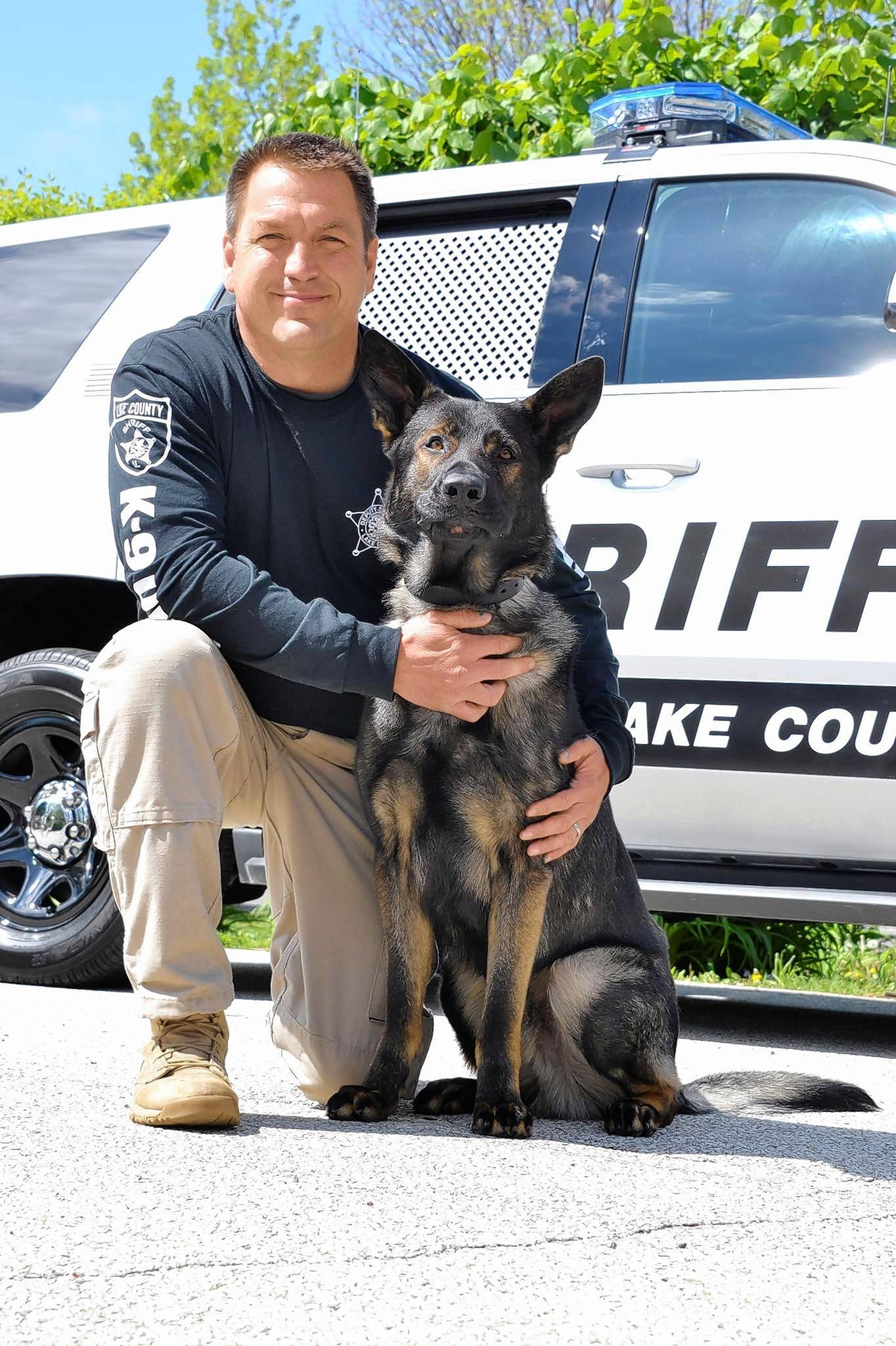 Lake County sheriff's deputy John Forlenza and canine officer Dax helped Lincolnshire police track down a hit-and-run driver early Saturday morning.