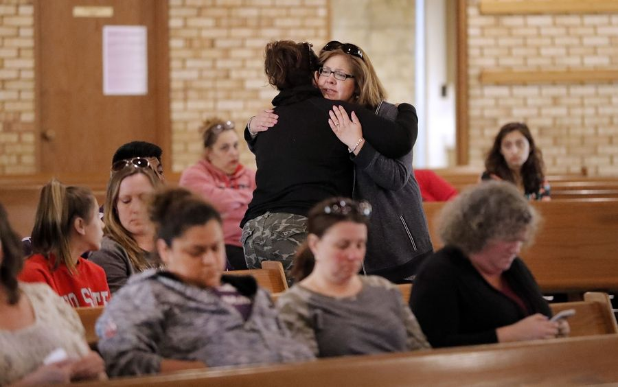 People who knew 9-year-old Geraldo Rodriguez gathered at Transfiguration Catholic Church in Wauconda for a prayer vigil Saturday after Rodriguez drowned in Bangs Lake Friday night.
