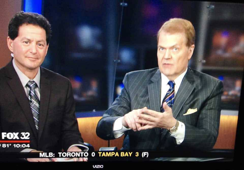 Courtesy of Barry Rozner Barry Rozner, left, and Chet Coppock. Taken during Final Word on Fox-32 in July 2014.