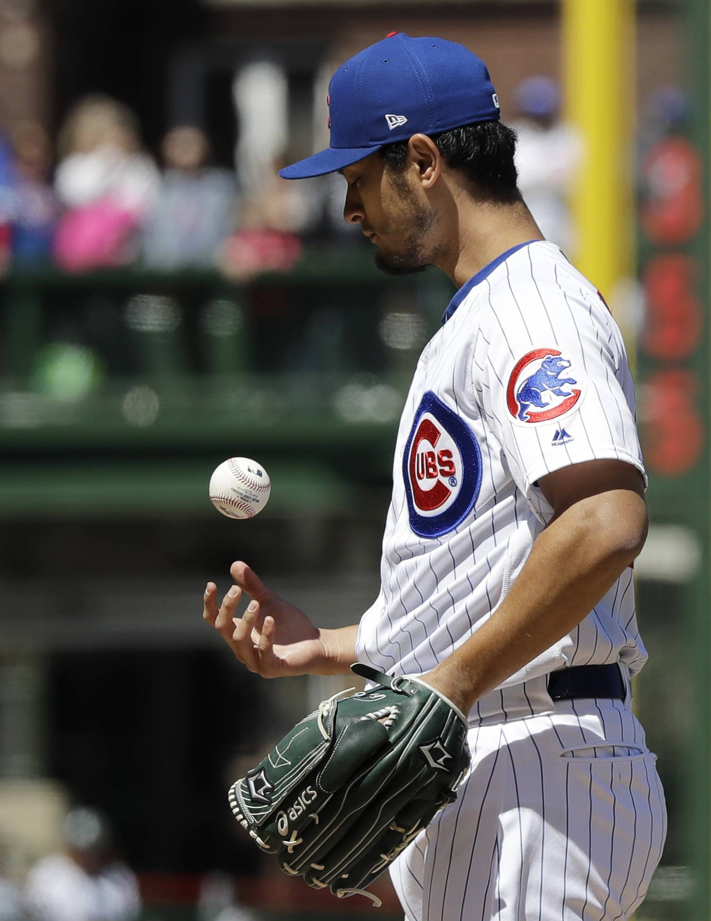 The Arizona Diamondbacks scored twice in the first inning and once in the second Saturday against Chicago Cubs pitcher Yu Darvish and went on to a 6-0 victory at Wrigley Field.