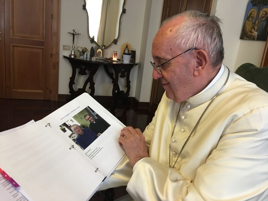 "An early draft of ""Sharing the Wisdom Of Time"" made Pope Francis smile. ""I like this book very much because it gives voice to people with years of experience,"" the pope said. ""I also liked looking at the images of their faces."""