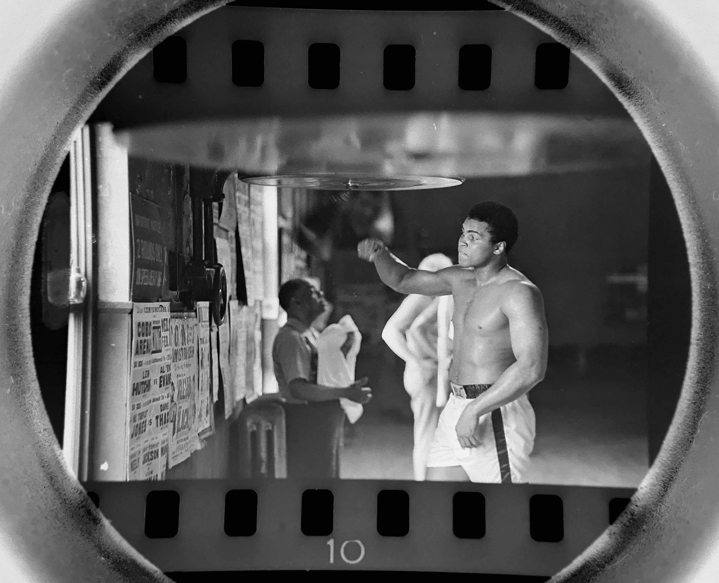 The Daily Herald Archives, Assignment 22,197, Jay Needleman photo: A 29-year-old Muhammad Ali works out at Johnny Coulon's gym on the south side of Chicago in July of 1971.