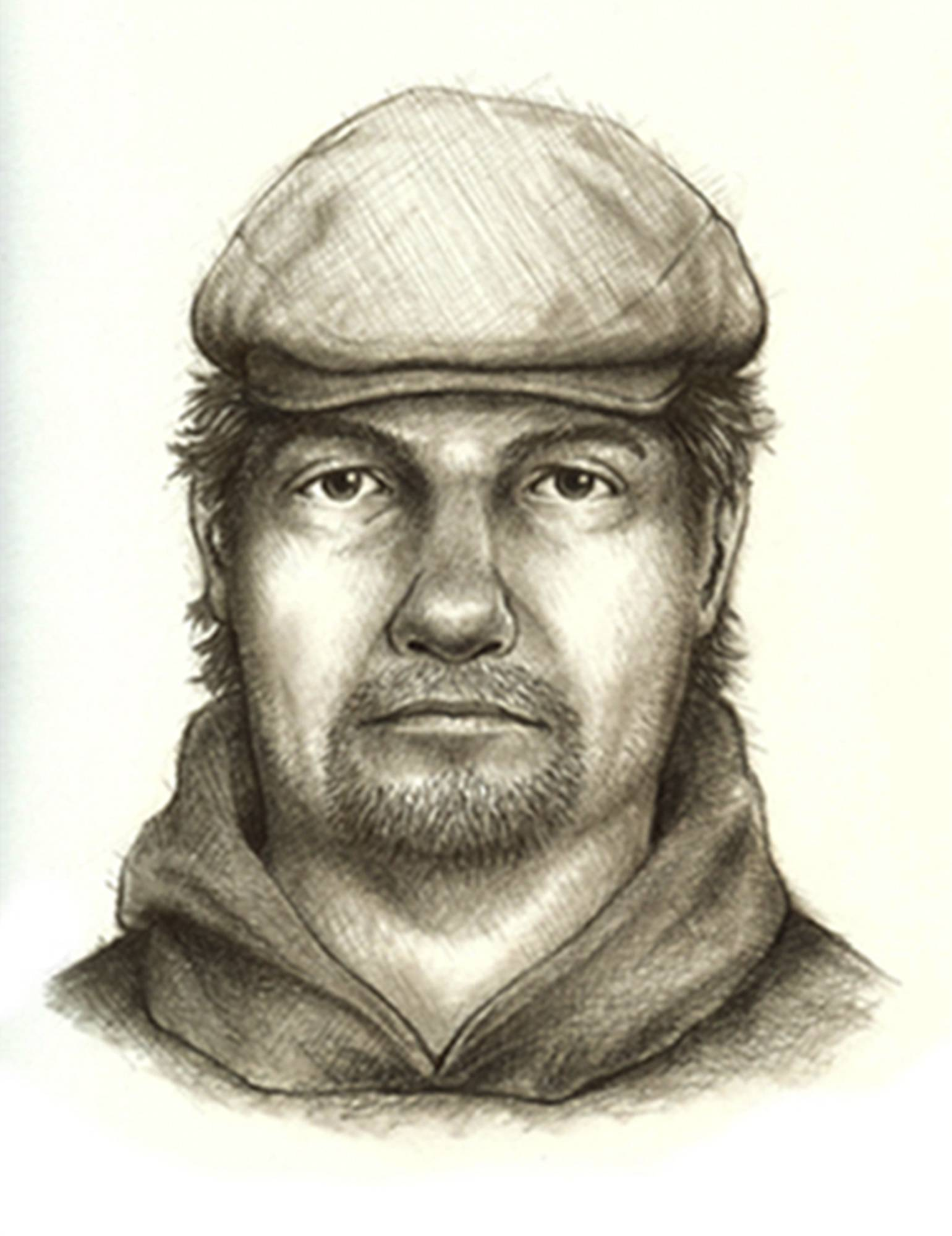 This composite sketch released by the Indiana State Police shows the man they consider the main suspect in the killings of teenage girls Liberty German, and Abigail Williams who disappeared from a hiking trail near their hometown of Delphi on Feb. 13, 2017.