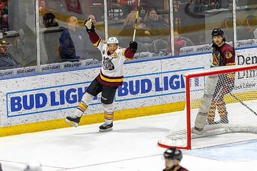 Chicago Wolves veteran forward T.J. Tynan isn't one to hide his emotions as a vocal leader of the team.