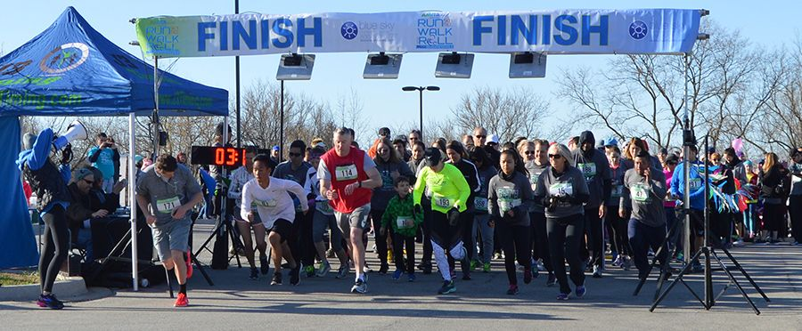 Runners take off from the starting line at Marklund's Run, Walk & Roll-Bloomingdale event in 2018. Net proceeds will support the care and services provided to the children and adults at Marklund.