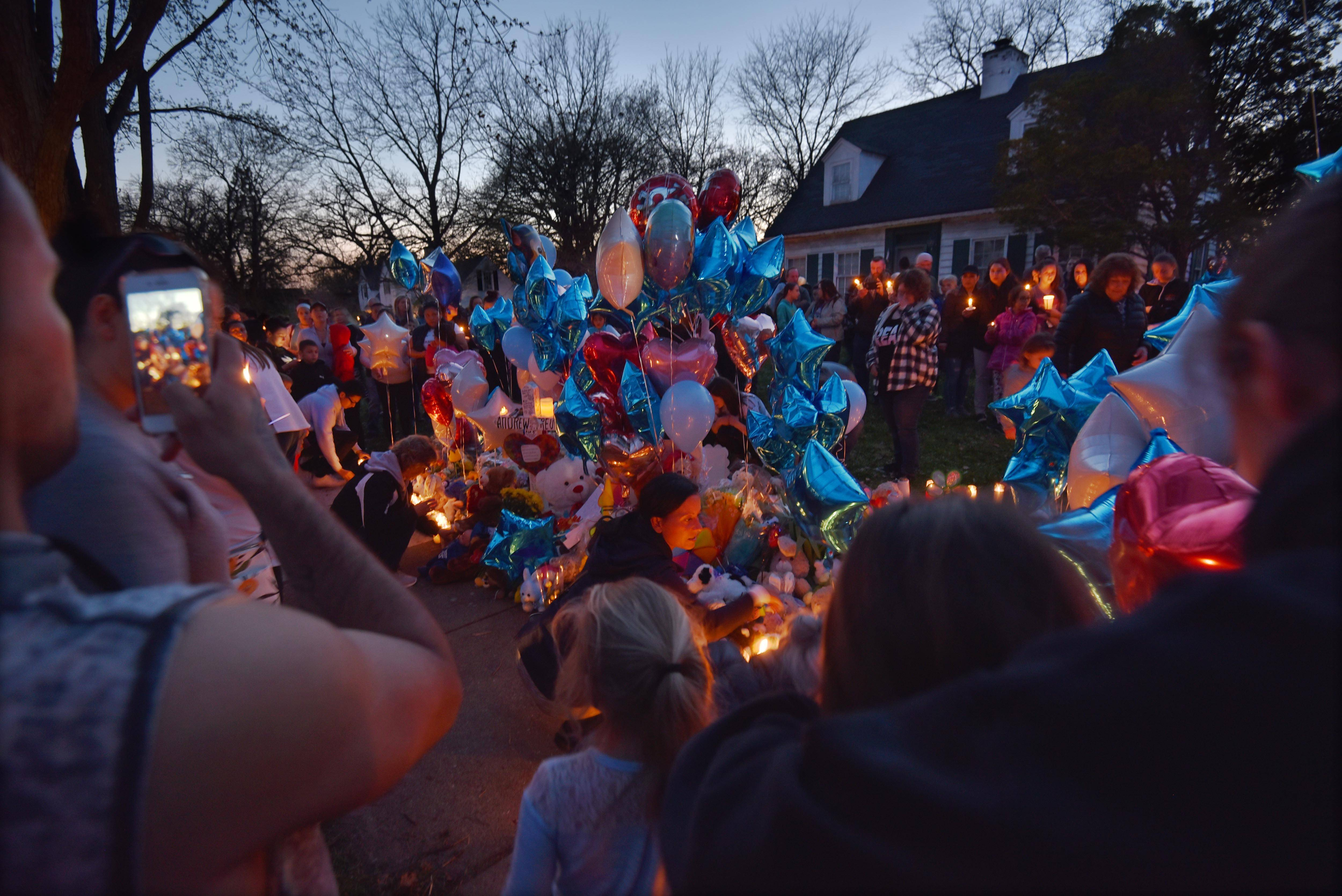 'We already know he's in heaven': Vigils honor the short life of Crystal Lake boy
