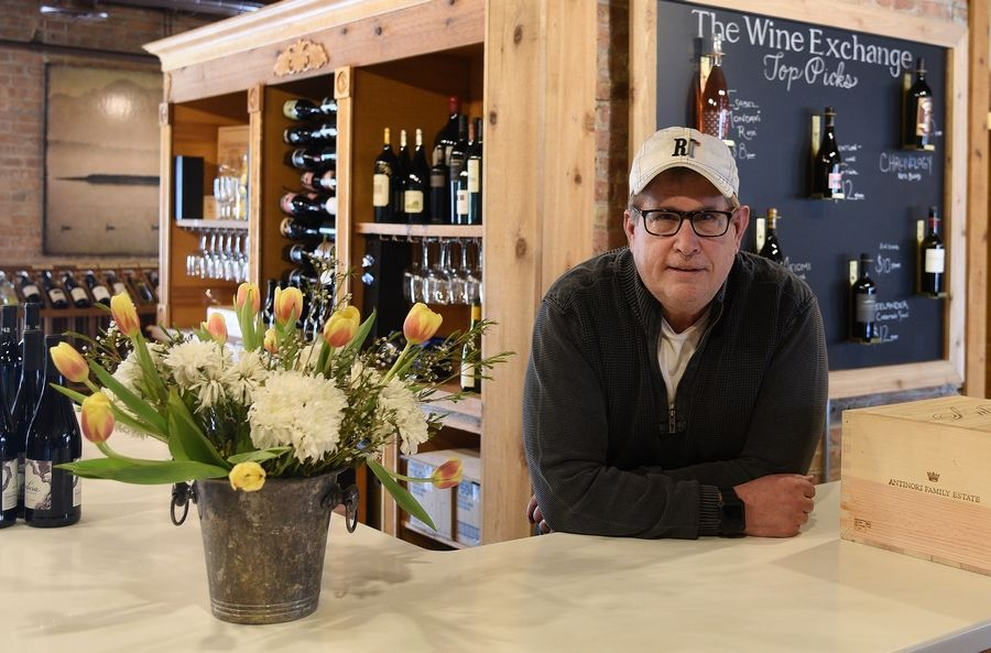 Bob Sommer, owner of The Wine Exchange in St. Charles. He and his wife, Keri Foster, have owned the business for a year.