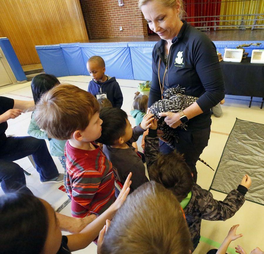 Frog Lady' visits Woodland kindergartners