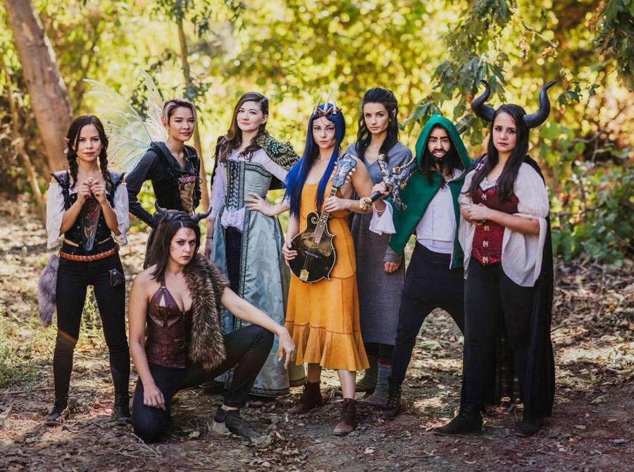"The stars of ""Girls Guts Glory,"" a Dungeons and Dragons web series -- Kimberly Hidalgo, left, Erika Fermina, Kelen Coleman (kneeling), Rachel Seeley, Allie Gonino, Alice Greczyn, Sujata Day and Kelly Lynne D'Angelo -- now feel respected. Early episodes were met with harsh comments: ""Like ... 'There's no way they actually play. No one plays D&D who looks like that,'"" Fermina recalls."