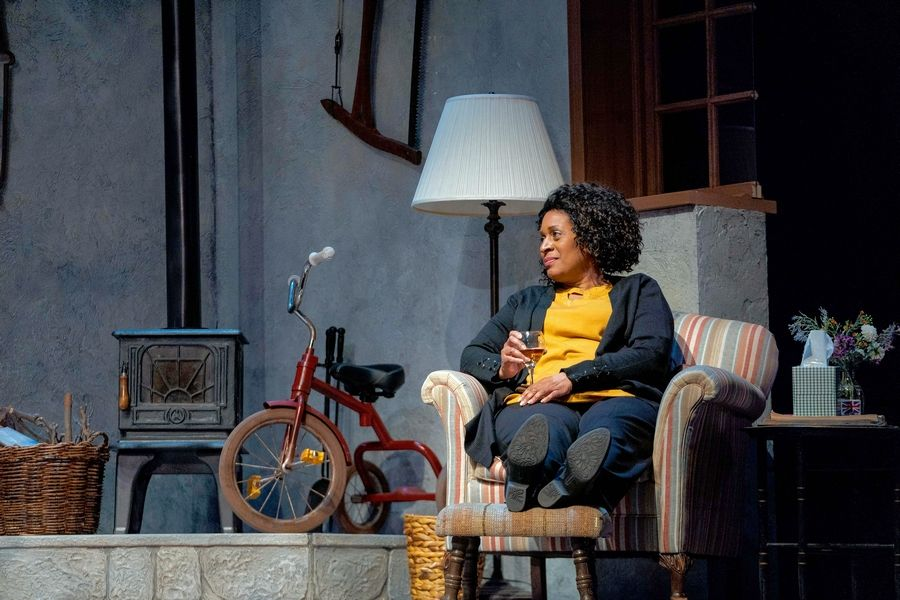 "Rose (Ora Jones) reappears in the lives of Hazel and Robin following an environmental disaster in Lucy Kirkwood's ""The Children"" at Steppenwolf Theatre in Chicago."