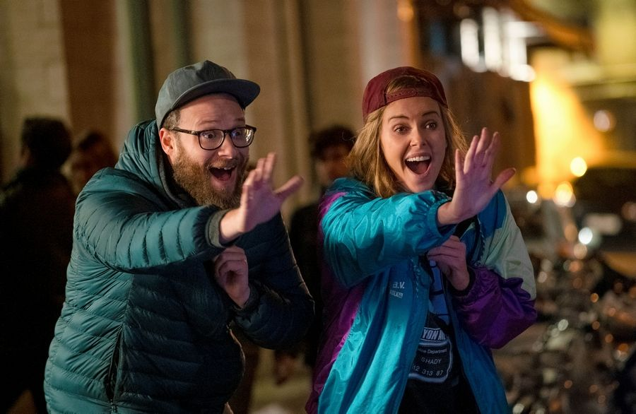 "Fred (Seth Rogen) had a crush on his baby sitter Charlotte (Charlize Theron) when he was a kid. Now she's the U. S. Secretary of State and he's writing speeches for her in Jonathan Levine's laugh-packed political rom-com ""Long Shot."""