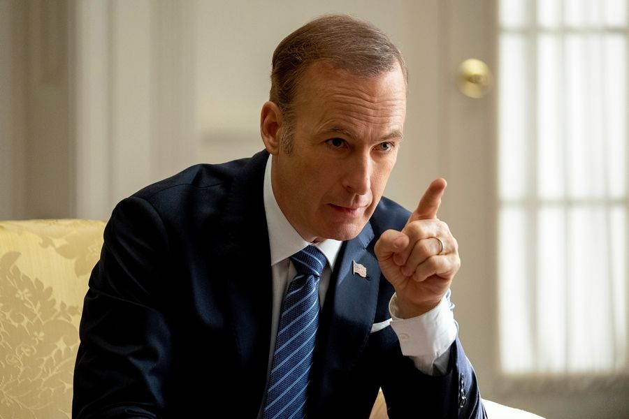 "Bob Odenkirk stars as an actor-turned-president in the political rom-com ""Long Shot."""