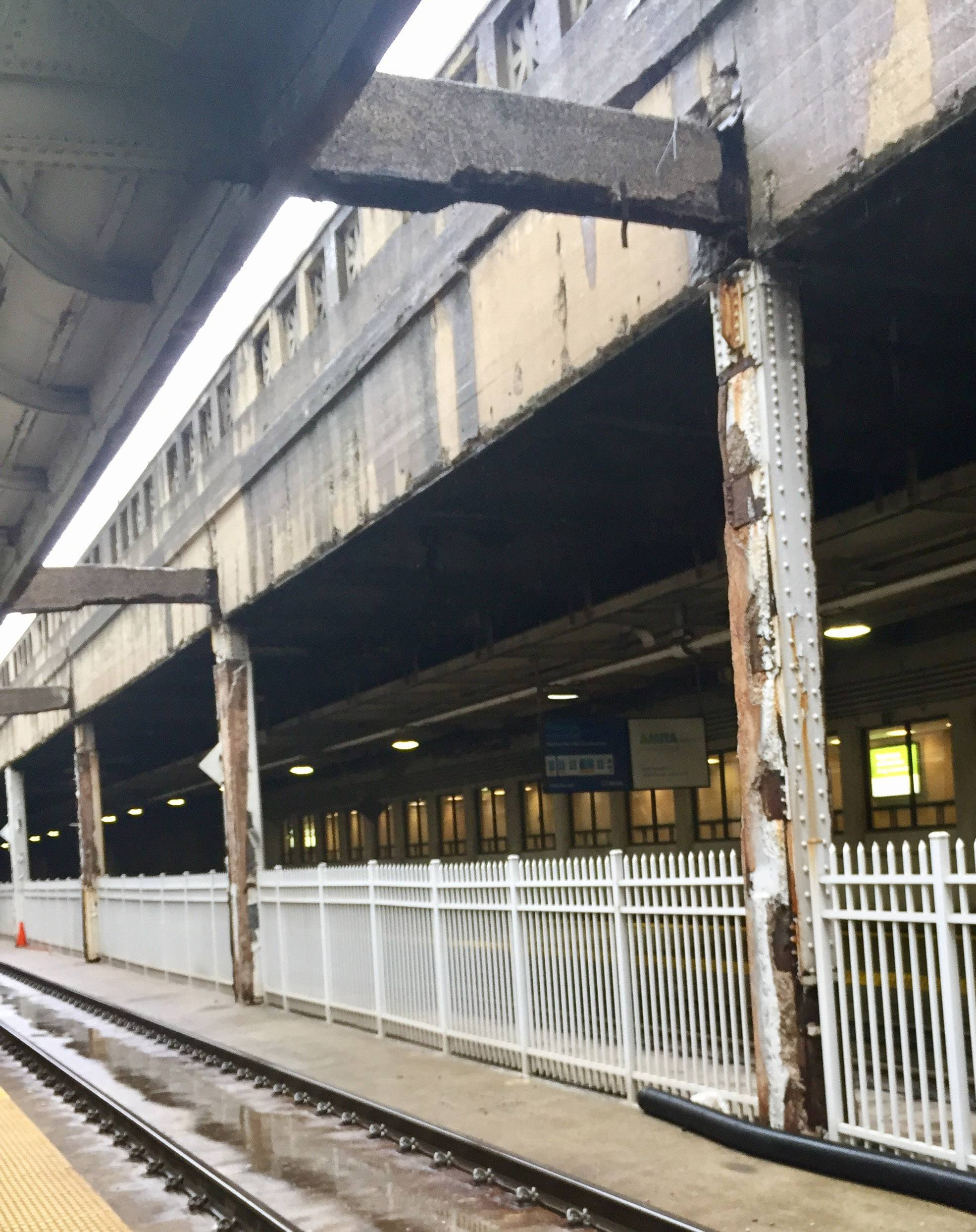 Rubble on track at Union Station came from postal service property