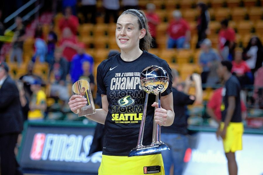 Seattle Storm forward Breanna Stewart, MVP of the WNBA Finals last season, is out after rupturing her Achilles tendon in the EuroLeague championship game last month.