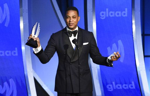 CNN news anchor Don Lemon accepts the outstanding TV journalism segment award at the 30th annual GLAAD Media Awards at the New York Hilton Midtown on Saturday, May 4, 2019, in New York. (Photo by Evan Agostini/Invision/AP)