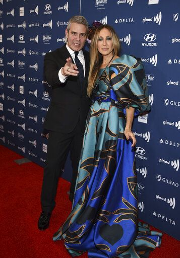 Honoree Andy Cohen, left, and actress Sarah Jessica Parker attend the 30th annual GLAAD Media Awards at the New York Hilton Midtown on Saturday, May 4, 2019, in New York. (Photo by Evan Agostini/Invision/AP)