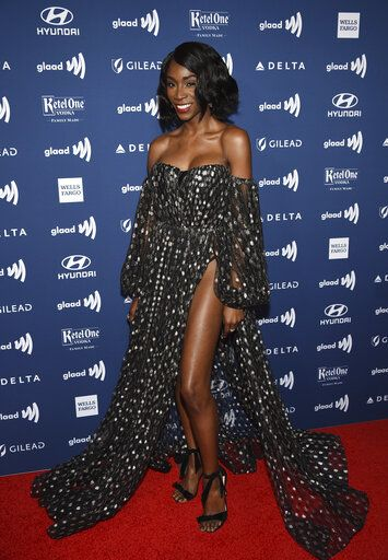 Actor Angelica Ross attends the 30th annual GLAAD Media Awards at the New York Hilton Midtown on Saturday, May 4, 2019, in New York. (Photo by Evan Agostini/Invision/AP)