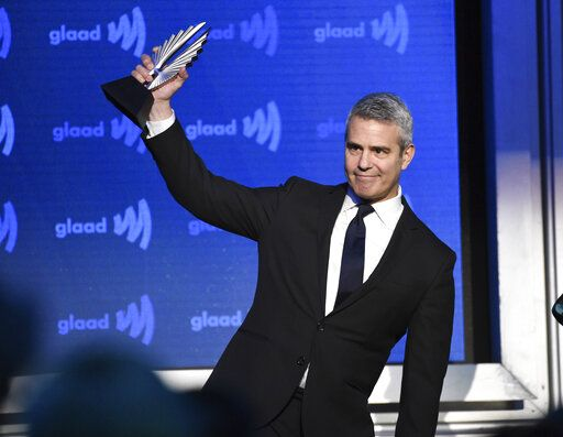 Honoree Andy Cohen accepts the Vito Russo award at the 30th annual GLAAD Media Awards at the New York Hilton Midtown on Saturday, May 4, 2019, in New York. (Photo by Evan Agostini/Invision/AP)