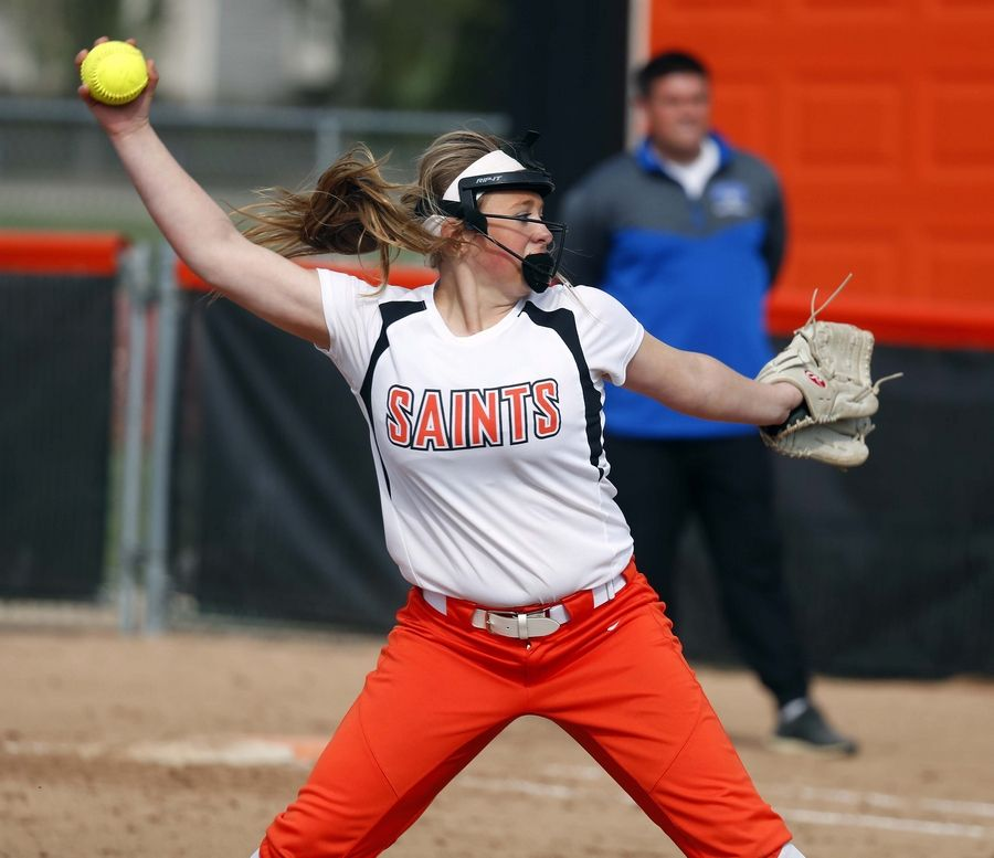 Softball: Howe pitches St  Charles East to sweep of St
