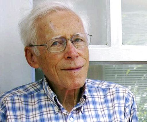This September 2011 photo provided by his daughter Glenna Lang shows Kurt Lang, an expert on Nazi Germany and a sociologist, who died of respiratory failure on May 1, 2019, in Cambridge, Mass. He was 95. Lang fled Nazi Germany for New York City with his family in 1936 when he was 12, and was drafted into the U.S. Army during World War II. (Glenna Lang via AP)
