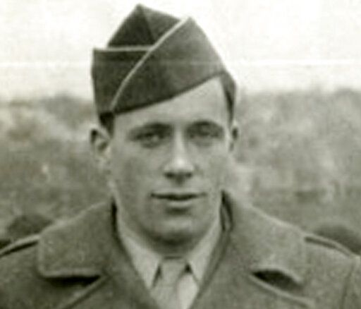 This circa 1940s photo made by his father and provided by his daughter Glenna Lang shows Kurt Lang, while he was home on leave from U.S. Army basic training during World War II. Lang, an expert on Nazi Germany and a sociologist, died of respiratory failure on May 1, 2019, in Cambridge, Mass. He was 95. Lang fled Nazi Germany for New York City with his family in 1936 when he was 12. (Glenna Lang via AP)