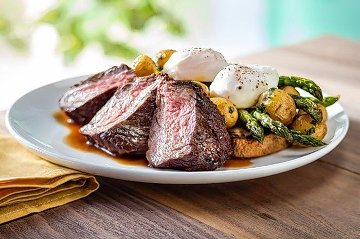 Prime steak and eggs is one of the brunch options available at Seasons 52 on Mother's Day.
