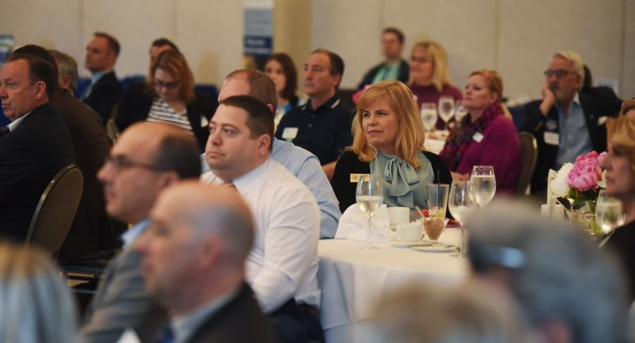 The Elk Grove Village business community gathered Thursday to hear Village President Craig Johnson talk about the past year and the year ahead during his State of the Village Address at Belvedere Banquets.
