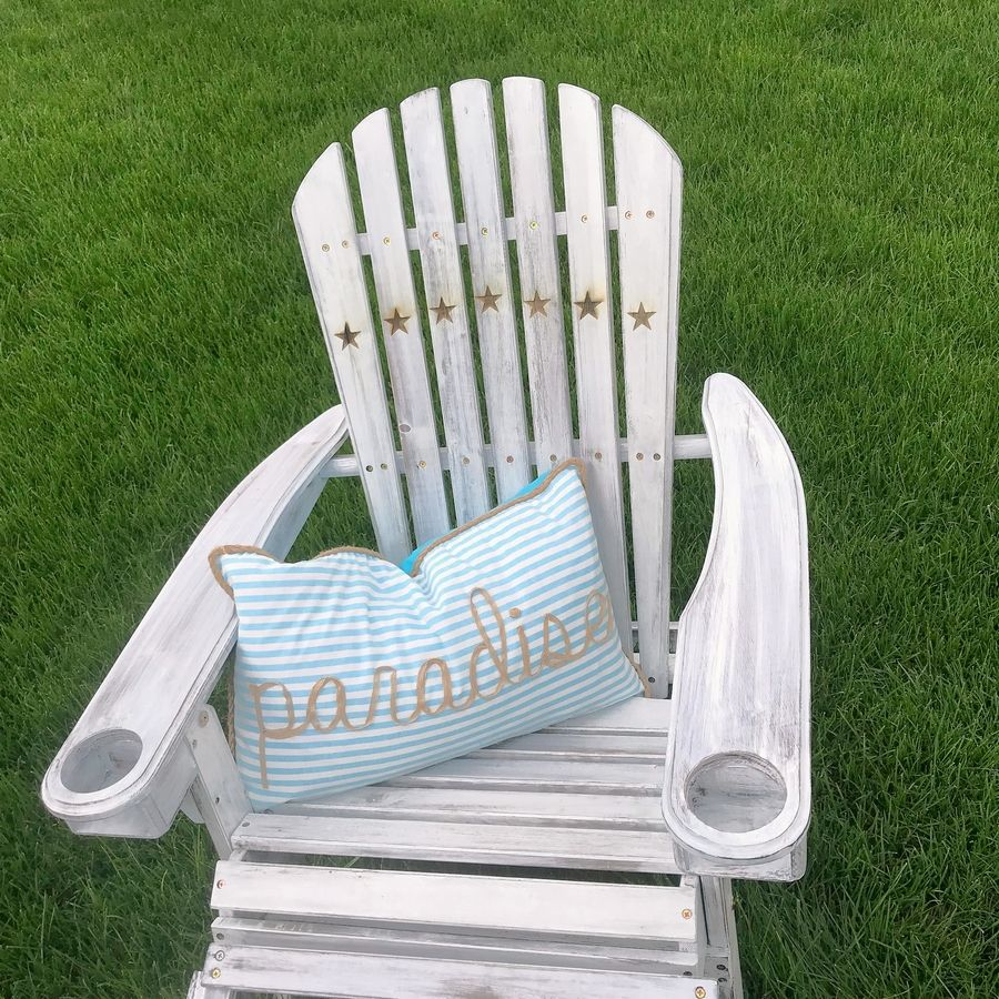 An Adirondack chair made by artist Donna Davis will be auctioned June 13.