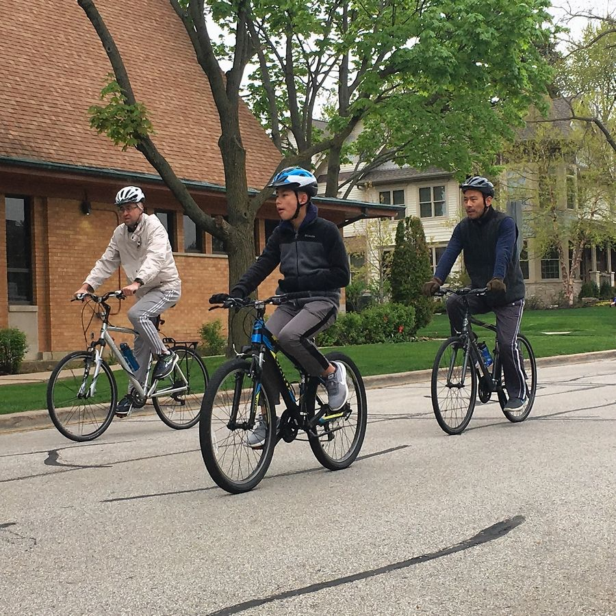 About 30 cyclists participated in Saturday's community bike ride sponsored by the Village of Arlington Heights and the Arlington Heights Bicycle and Pedestrian Advisory Commission.
